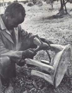 MWAI WA ITI: Stool carver Source: Andersen K. B. 1977