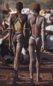 Dinka men, Southern Sudan. Source: Beckwith & Fisher 1999