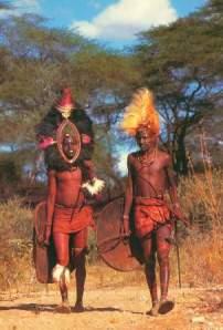 Maasai worriors  Source: postcard, Westland Sundries, Nairobi