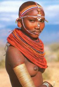 Samburu Girl  Source: Postcard, Westland Sundries, Nairobi