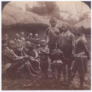 Some of the 16 Wives and Children of Wambugu wa Mathangani near Gikondi Nyeri - 1909 Source: Muriuki and Sobania 2007
